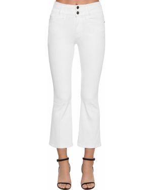 Хлопковые белые укороченные джинсы с карманами в стиле бохо Frame