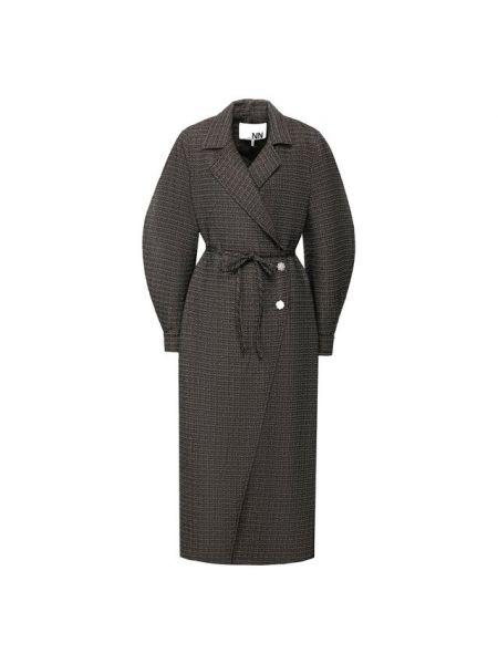 Пальто классическое с запахом тонкое Ganni
