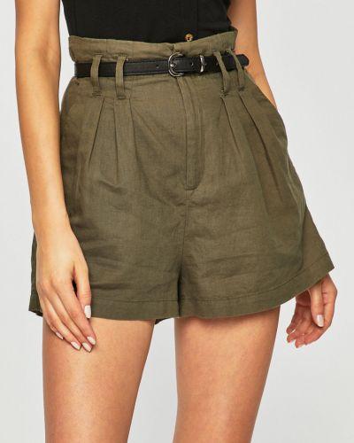 Однобортные оливковые шорты с карманами Tally Weijl