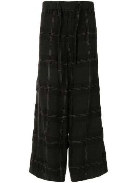 Spodni wełniany czarny przycięte spodnie z kieszeniami Ziggy Chen