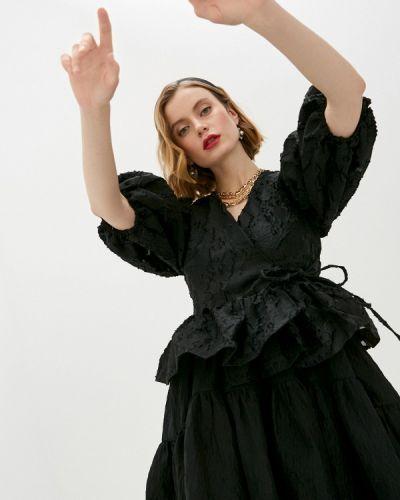 Черная блузка с оборками Sister Jane