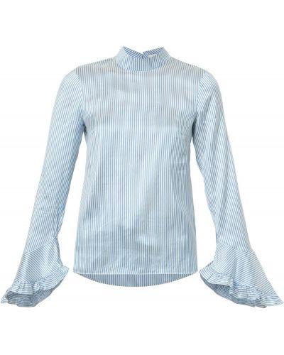 Блузка шелковая с воротником-стойкой Erdem