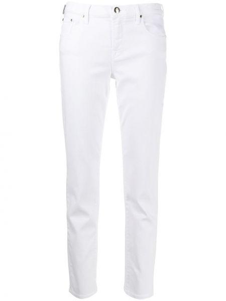 Укороченные джинсы с низкой посадкой белые Jacob Cohen