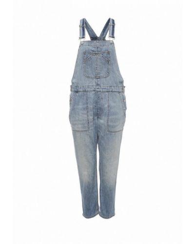 Голубой джинсовый комбинезон Gap