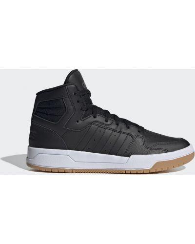 Баскетбольные черные высокие кроссовки винтажные Adidas