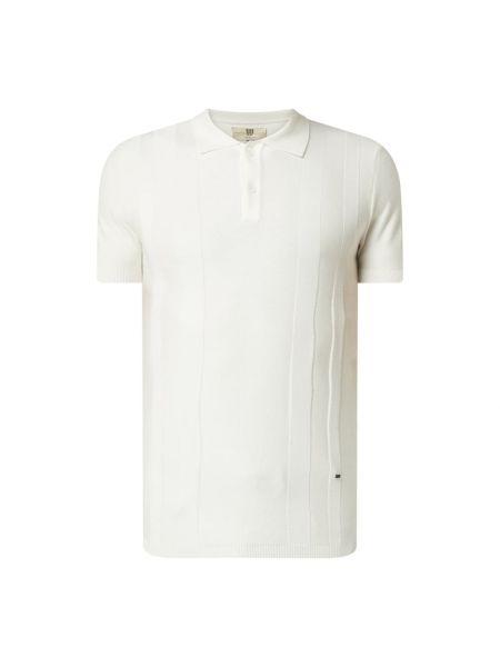 Biały t-shirt w paski bawełniany Bertoni