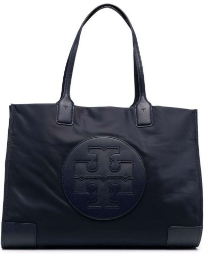 Кожаная сумка - синяя Tory Burch