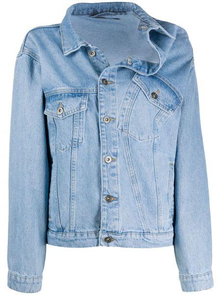Синяя джинсовая куртка с воротником на пуговицах Y/project