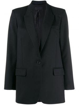 Однобортный черный пиджак на пуговицах с карманами Nili Lotan