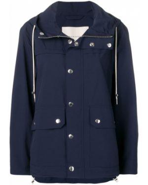 Прямая синяя длинное пальто Mackintosh