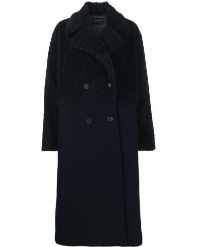 Черное длинное пальто с капюшоном Sport Max Code