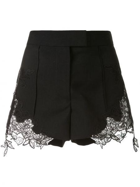 Нейлоновые черные шорты с карманами со вставками Vera Wang