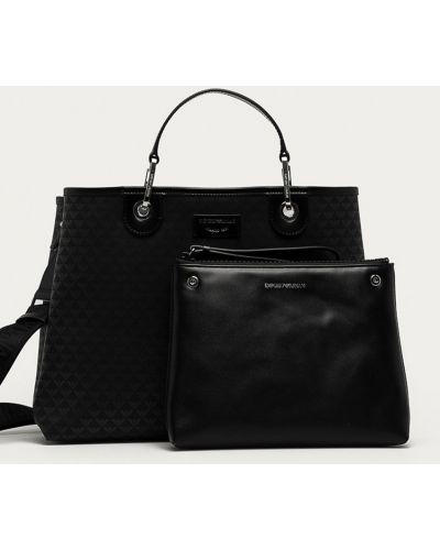 Czarna torba z krótkimi uchwytami Emporio Armani