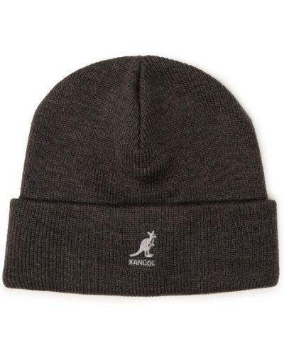Szara czapka z akrylu Kangol