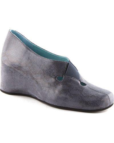 Туфли на каблуке кожаные синий Thierry Rabotin