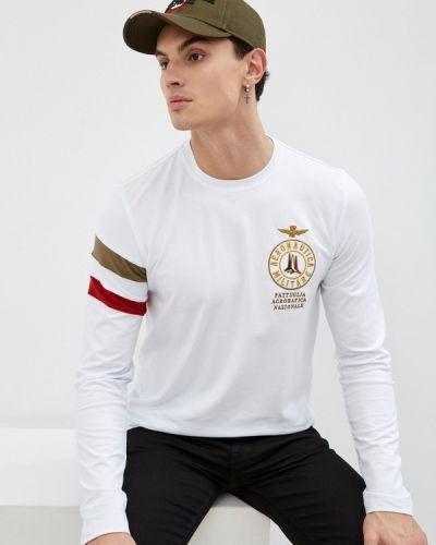 Белая футболка осенняя Aeronautica Militare