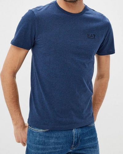 Синяя футболка Ea7