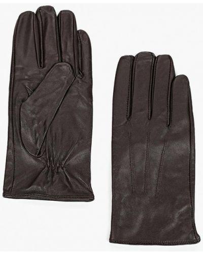 Коричневые кожаные перчатки Mango Man