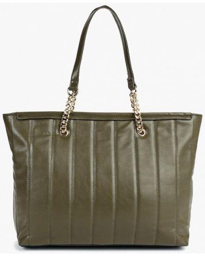 Кожаный сумка шоппер зеленый Fabretti