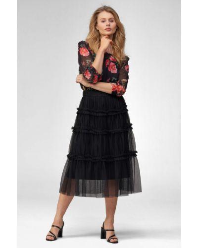Czarna spódnica midi tiulowa Orsay