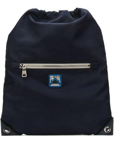 Niebieski plecak Prada