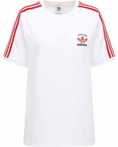 Белая футболка с вышивкой Adidas Originals