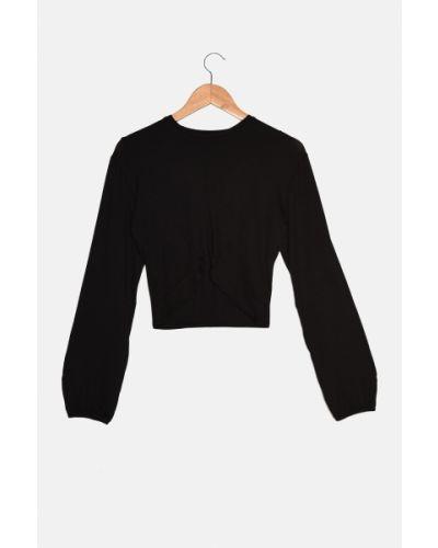 Czarna bluzka z wiskozy Trendyol