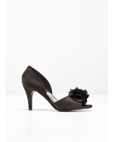 Туфли-лодочки на каблуке черные Bonprix
