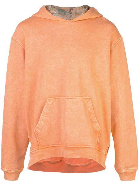 Prążkowana pomarańczowa bluza bawełniana Alchemist