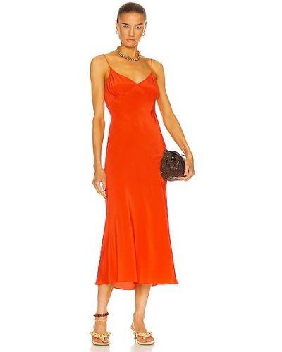 Шелковое красное платье с открытой спиной Matteau