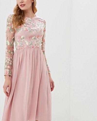 Вечернее платье розовый весеннее Chi Chi London