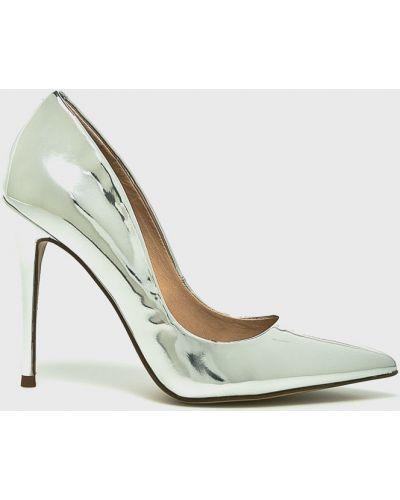 Туфли на каблуке на шпильке серебряный Steve Madden