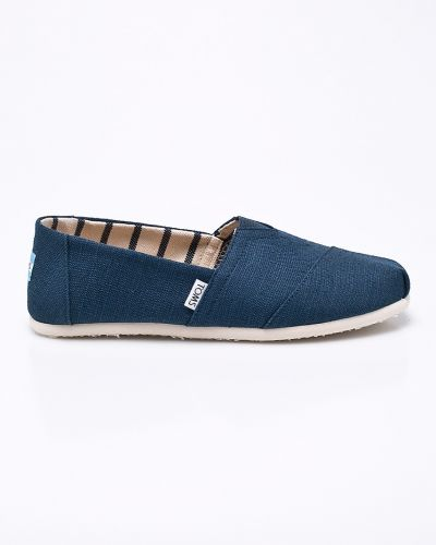 Эспадрильи кожаные синий Toms