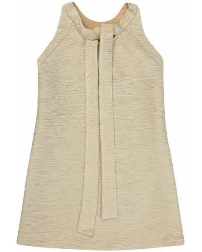 Платье мини в рубчик шелковое Oscar De La Renta