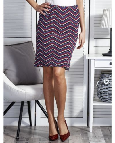 Fioletowa spódnica wieczorowa szkolna bawełniana Fashionhunters