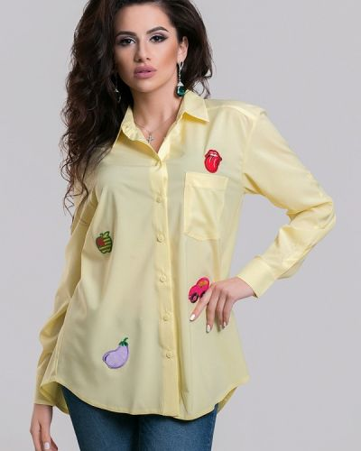 Желтая блузка с длинным рукавом Azuri