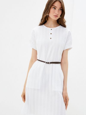 Повседневное белое платье Shovsvaro