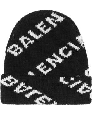 Шапка бини шерстяная с логотипом Balenciaga