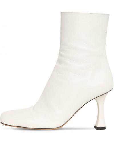 Белые сапоги без каблука на каблуке с подкладкой из натуральной кожи Proenza Schouler