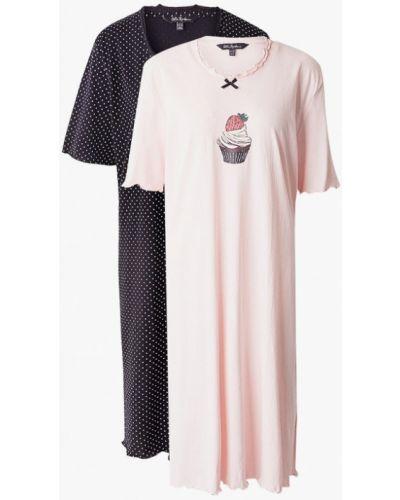 Разноцветное платье - черное Ulla Popken