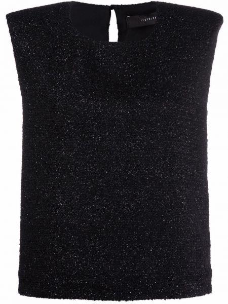 Блузка без рукавов - черная Federica Tosi