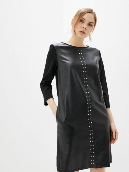 Черное кожаное платье Acoola