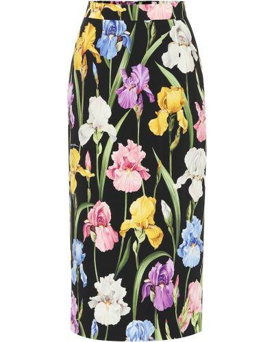 Юбка карандаш миди с цветочным принтом Dolce & Gabbana