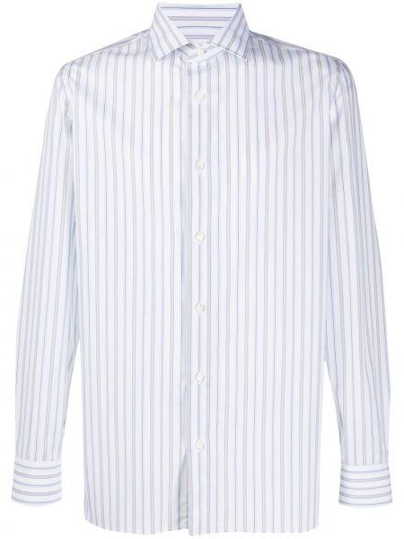 Классическая прямая рубашка с воротником на пуговицах Borrelli
