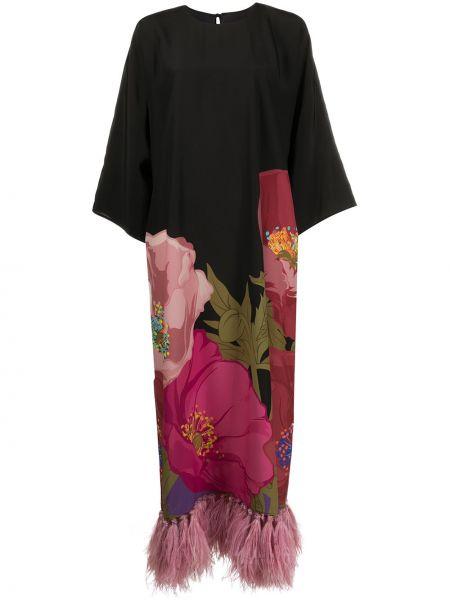 Платье на пуговицах с цветочным принтом Valentino