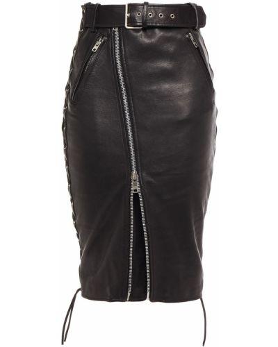 Черная кружевная юбка Balenciaga