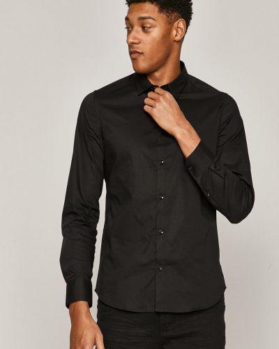 Черная классическая рубашка с воротником с длинными рукавами Medicine