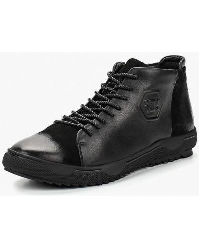 Высокие кеды черные кожаный Id! Collection