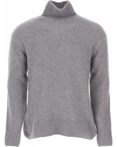 Bawełna kaszmir szary sweter z długimi rękawami Kenzo