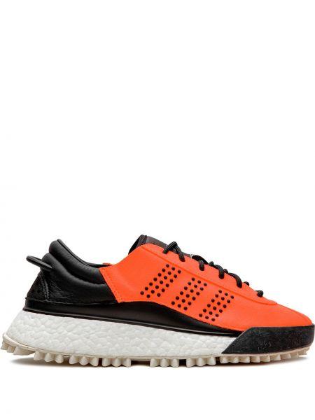 Нейлоновые городские черные кроссовки на каблуке Adidas